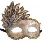 Venetian Mask Cascade Pink Bronze Silver Mardi Gras Masquerade Costume Prom