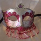 Venetian Mask Veil Purple & Silver Prom Mardi Gras Masquerade Costume Party