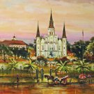 St. Louis Cathderal Jackson Square New Orleans Art Print Matted Print Baltas