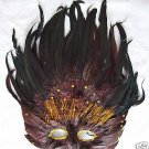 CHOCOLATE FLAME Feather Ball Party HALLOWEEN Mask