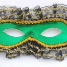Lace Trimmed Green Masquerade Ball Party Mask Mardi Gra