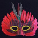 Scarlet Pheasant Feather Mask Masquerade Costume Party