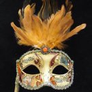 Fancy Venetian Stick 06 Mask Mardi Gras Halloween Masquerade Costume Prom Party