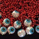 One Dozen (12) Eye Ball Necklace Mardi Gras Eyeballs Halloween Party Costume
