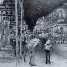 New Orleans Bourbon Street Art Print Don Davey 1980 Tap Dancers Street Scene