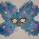 Baby Blue Butterflies Teen Girl PROM Costume Party Mask