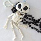 Human Skeleton Mardi Gras Beads New Orleans Bead Scary Skull Bones Halloween