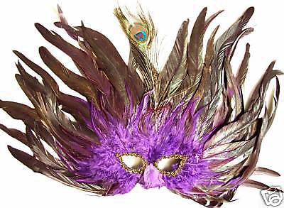 Purple Majesty Mardi Gras Masquerade Sexy Lady Mask Fun Prom Party Costume