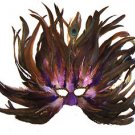 Feather Mask Flame Blueberry Mardi Gras Masquerade Ball Decor Party Prom