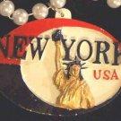New York Mardi Gras Necklace Medallion Bead Authentic