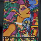 Milton Mardi Gras Art 2001 New Orleans Balcony Rare