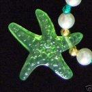Clear Sea Shells Mardi Gras Necklace Luau Beads