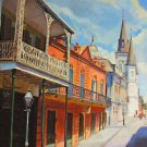 St. Louis Cathedral Side Street New Orleans Art Print Matted Print Baltas