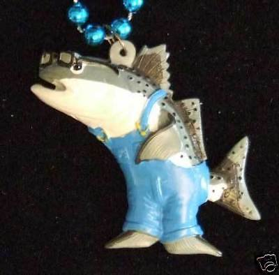 Fish School 1 Mardi Gras Beads New Orleans Trout Funny