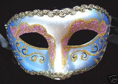 Venetian Mask Glitter Color Mardi Gras Carnival Party