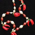 RED HOT CHILI Peppers Cluster Mardi Gras Beads Party