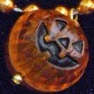Little Orange Pumpkin Halloween Necklace Beads Mardi