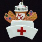 RX Prescription Nurse Band Aids Mardi Gras Beads Doctor Necklace New Orleans