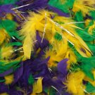 Mardi Gras Color Feather Boa Purple Green Gold Masquerade Fashion Glamour Party