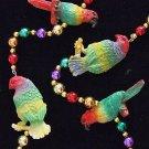 Parrots Colorful Mardi Gras New Orleans Bead Necklace