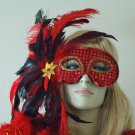 HALLOWEEN MASK Red SEQUIN Costume Party Sexy Fun