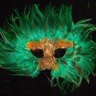 Forrest Green Masquerade Ball Party Mask Mardi Gras