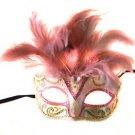 Saigon Pink Mask Costume Prom Mardi Gras New Orleans Carnival Masquerade