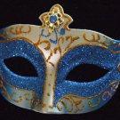 Portofino Costume VENETIAN Mask Dark Blue Jewel Costume