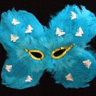 Butterly Feather Masquerade Ball Party Mask Teal & Pink Costume Party Prom