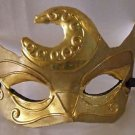 Venetian Eye Mask Mardi Gras GOLD SWIRL Masquerade Costume Prom Part Mystery