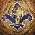 Eye of the Tiger in Fleur de Lis New Orleans Art Print Matted Print Baltas