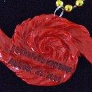 I SURVIVED KATRINA HURRICANE DATE Red Mardi Gras Beads