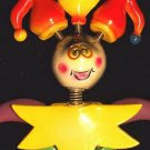 Bobble Head JESTER Mardi Gras Beads Moves Animated