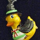 Witch Duck Riding a Broom Halloween Party Bead Necklace