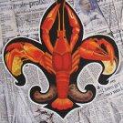 Fleur de Lis Crawfish Newspaper New Orleans Baltas Matted Art Print Louisiana