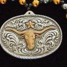 BELT BUCKLE Cowboy Western Bead Necklace Star Rodeo Fun