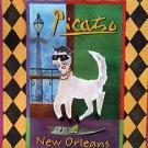 PICATSO New Orleans Mardi Gras Famous Rare Art Print by Sharon Neuhaus Cat