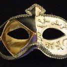 Venetian Mask Mardi Gras Costume Ivory Gold Barcelona