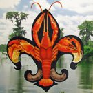 Fleur de Lis Crawfish Bayou New Orleans Baltas Matted Art Print French Quarter