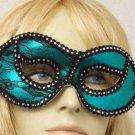 Green LACE Masquerade Mardi Gras Ball Theater Play Mask