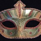Wellington Pink & Silver Venetian Mardi Gras Mask