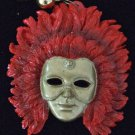 RED KREWE MASK Mardi Gras Beads New Orleans Party Fun