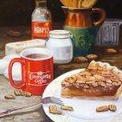 Community Coffee Pecan Pie New Orleans Baltas Matted Art Print French Quarter