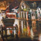 Twilight Buggy New Orleans Baltas Matted Art Print French Quarter