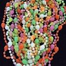 ONE DOZEN GLOW IN THE DARK HUMAN SKULLS HALLOWEEN Bead