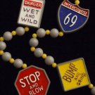 Naughty Street Sign Intercourse 69 Mardi Gras Beads XXX New Orleans Party Bead