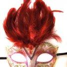 Saigon Red Mask Costume Prom Mardi Gras New Orleans Carnival Masquerade