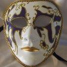 Full Face Mask Montego Purple Costume Prom Mardi Gras New Orleans Masquerade