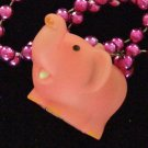 Pink Elephants Elephant Rubber Zoo Mardi Gras Beads