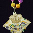 IVORY Mardi Gras CROWN ROYAL New Orleans Party Beads